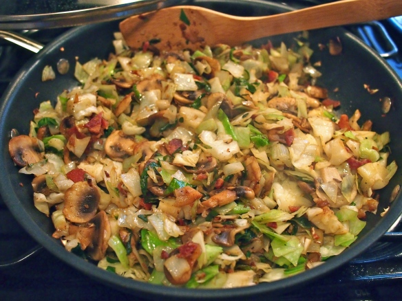cabbage and mushroom filling
