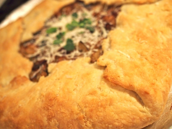 mushroom and cabbage galette
